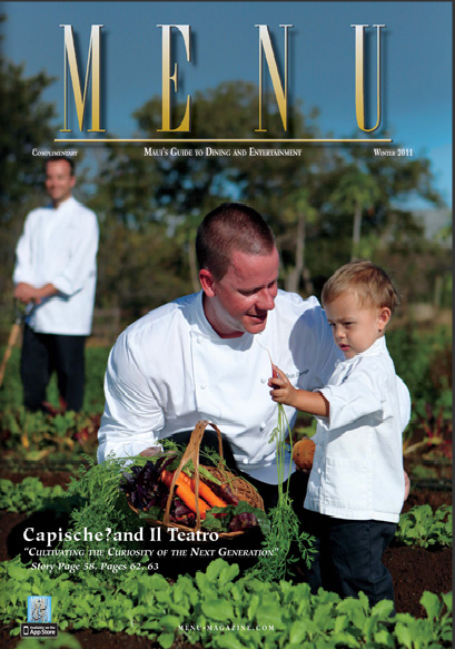 Kihei School Garden Chef Sponsor Featured in Maui Menu Magazine