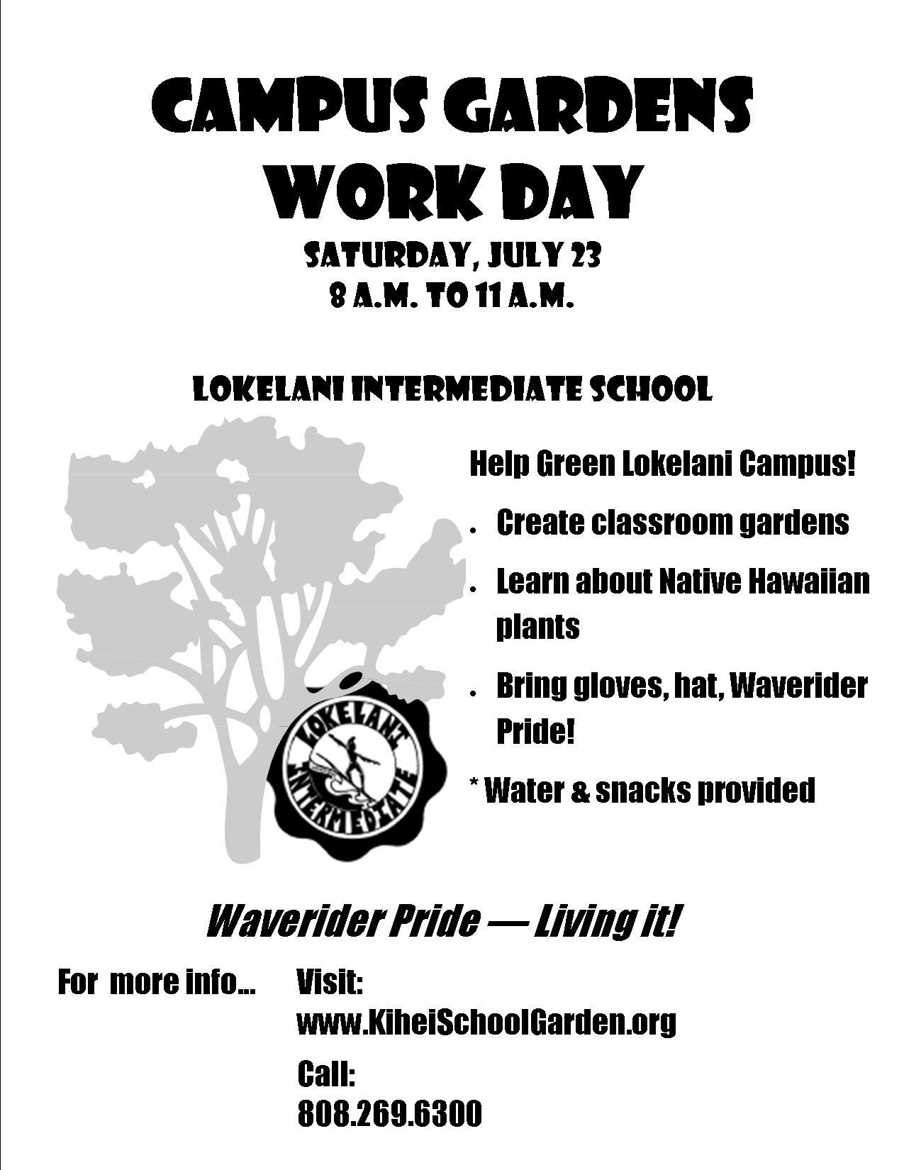 July 23 Lokelani Workday