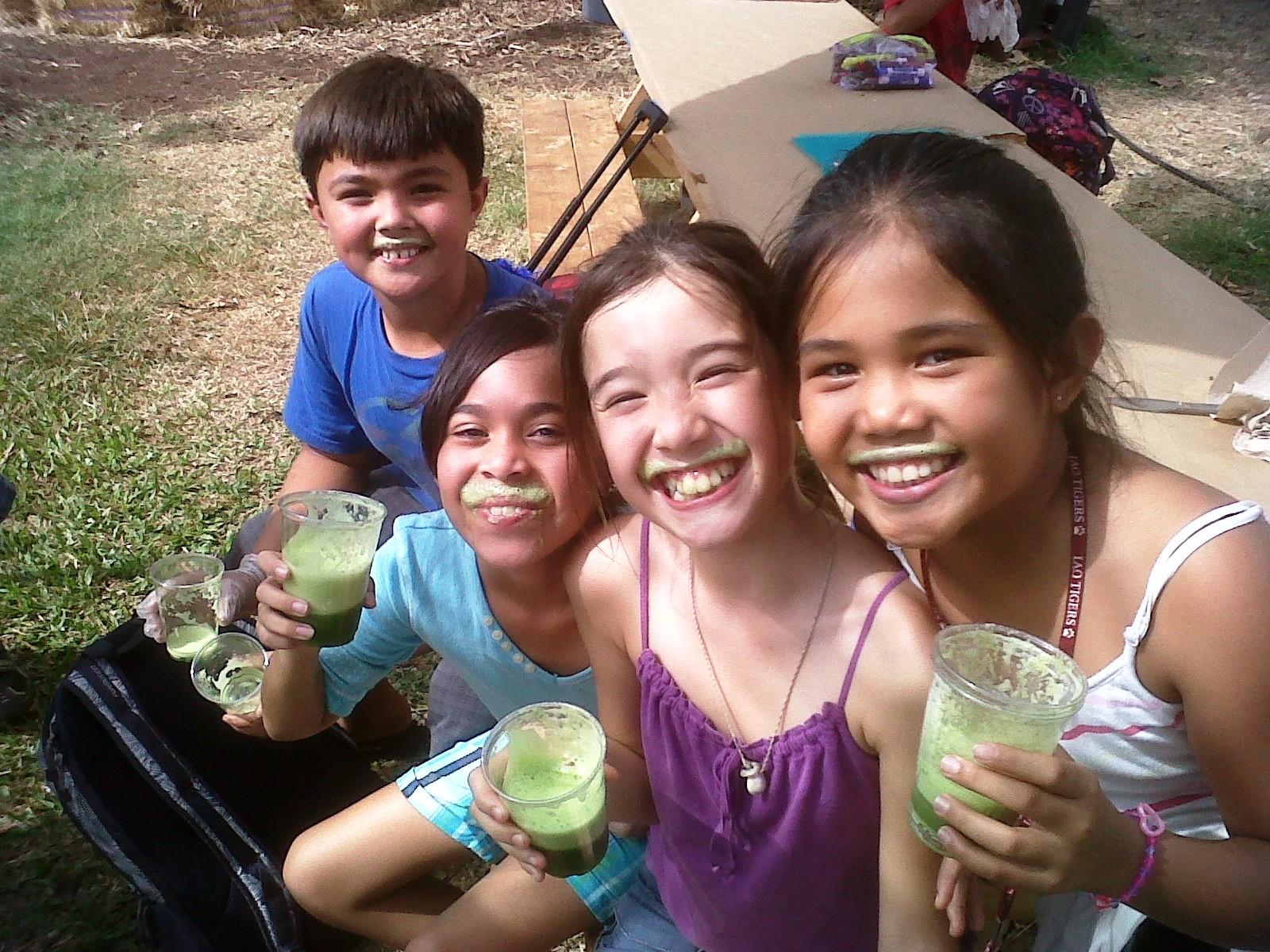 Green Smoothie 101 @ Kihei Elementary School Garden