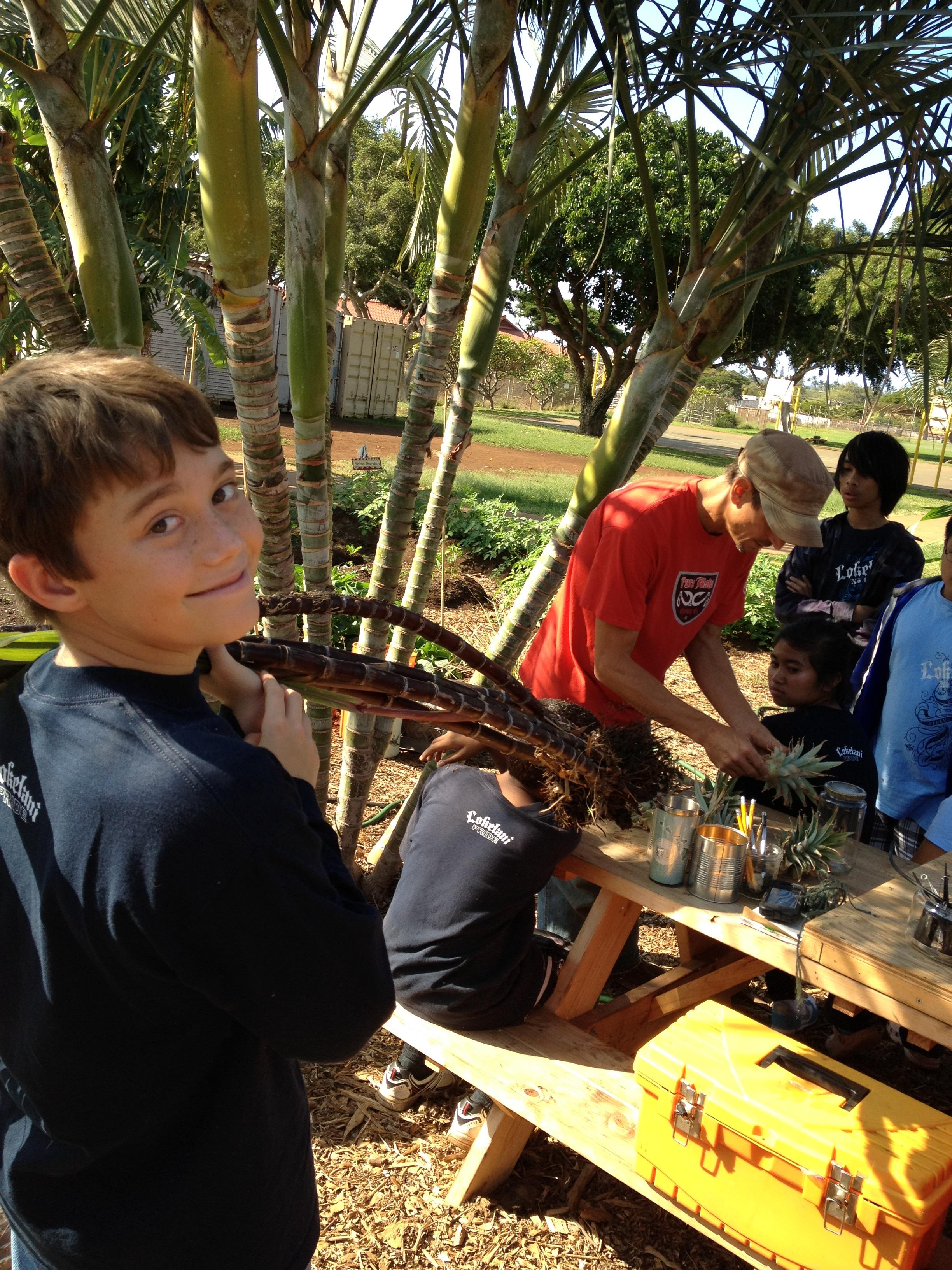 "April 28 ""Helping Hands Day"" at Lokelani School"